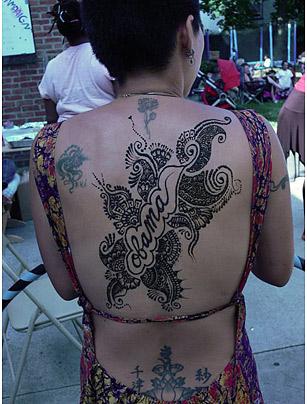 obama tattoo