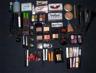 A makeup toolbox